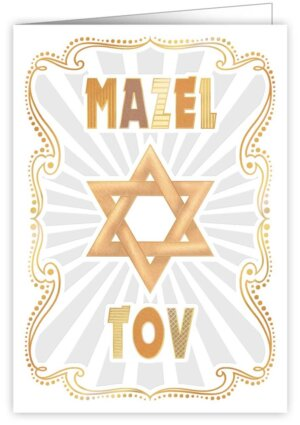 Képeslap - Mazel Tov