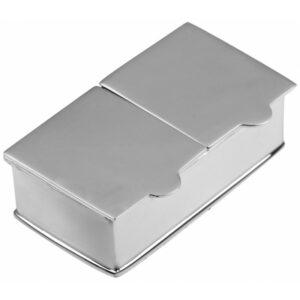 925-ös sterling ezüst szelence, kér résszel, díszdobozban.