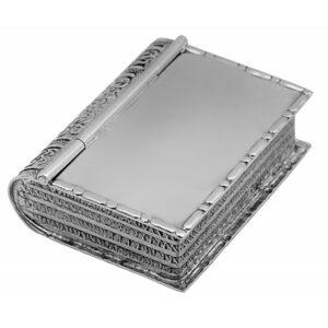 925-ös ezüstből készült könyv formájú gyógyszeres doboz.