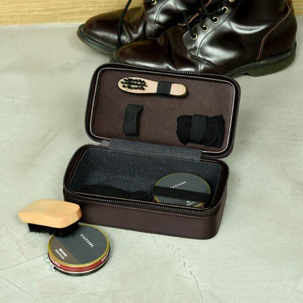 Stackers cipőápoló szett - barna