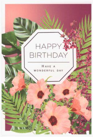 Képeslap – Happy Birthday, Have a wonderful day