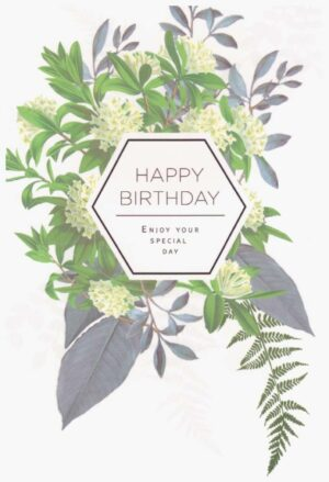 Képeslap – Happy Birthday, Enjoy your special day