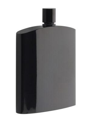 Philippi HENRY'S fekete, polírozott acél zsebflaska.