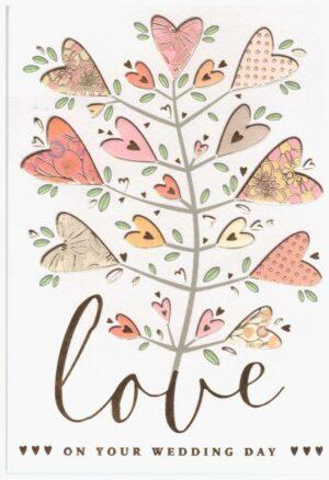 Képeslap - Love on your wedding day