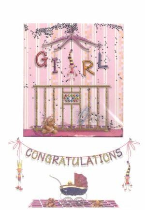 Képeslap - Gratulációs, kislány