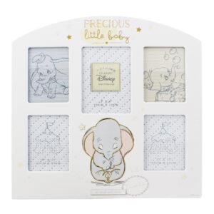 Adjon hozzá egy kis varázslatot a mindennapjaihoz ezzel a Varázslatos Kollázs képkerettel. Ez a keret Dumbo-t, a Disney klasszikust, jeleníti meg. A kollázskeretbe 5 kisméretű kép helyezhető - 1 db 7,5 cm x 10 cm, 4 db 6,5 cm x 8,5 cm.