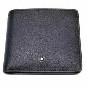 Montblanc márkájú, fekete színű borjúbőrből készült péntárca, 4 db bankkártyának.