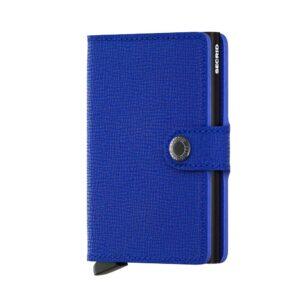 Secrid Miniwallet Crisple Blue-Black fekete színben, lágy tapintású, sima felületű marhabőrből.