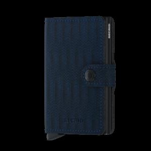 Secrid Miniwallet Dash sötétkék színben, lágy tapintású, sima felületű marhabőrből.